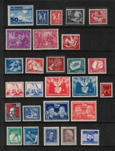 East Germany Collection of early mint. CV £686 (approx $881)