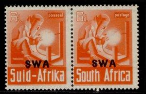 SOUTH WEST AFRICA GVI SG119, 6d red-orange, M MINT.