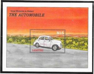 Lesotho #1254  15M  The Automobile  S/S (MNH) CV $6.50