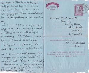 Mwanza Tanzania 1959 Mwanza Cancel Air Letter Ref 31108