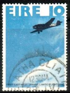 Plane, Bremen, Junkers Monoplane, Ireland stamp SC#426 used