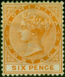 Dominica 1888 6d Orange SG25 Fine Mounted Mint