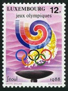 Luxembourg 797 block/4, MNH. Michel 1209. Olympics Seoul-1988.