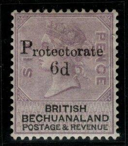 BECHUANALAND SG45 1888 6d on 6d LILAC & BLACK MTD MINT