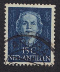 Netherlands Antilles 1950 used Juliana 15 ct   #