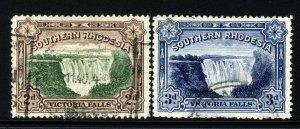 SOUTHERN RHODESIA King George V 1932 Victoria Falls Set SG 29 & 30 VFU