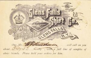 19XX, Advertising: Glen Falls Shirt Co., New York (10573)