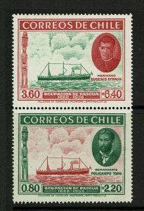 Chile SC# B1 and B2, pair, B1 Mint Hinged, sm Hinge Rem, B2 never Hinged -S12411
