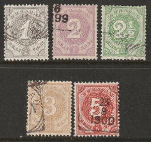 Netherlands Antilles 1889 Sc 13-7 set used