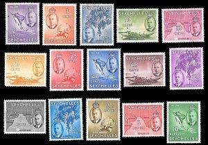 Seychelles SC 157-171 * George VI * MLH * 1952