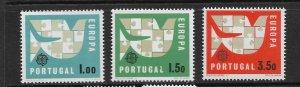 PORTUGAL - EUROPA 1963 - SCOTT 916 TO 918 - MNH