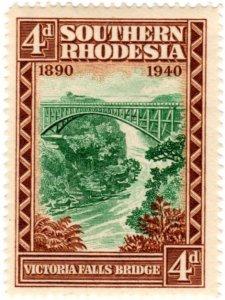 Southern Rhodesia Scott 61 (1940: Victoria Falls Bridge)