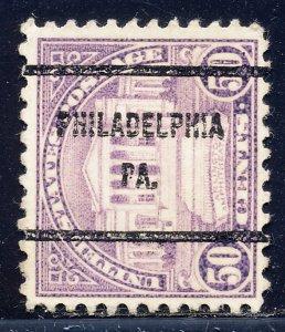 Philadelphia PA, 701-61 Bureau Precancel, 50¢ Arlington