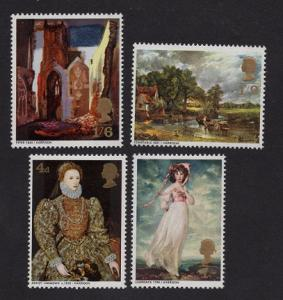 Great Britain  #568-571  1968 MNH British paintings complete