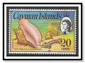 Cayman Islands #341b Conch Pistal & Gold Cup MH