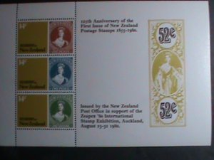 NEW ZEALAND STAMP-1980-SC#703a- 125TH ANNIVERSARY OF POST STAGE STAMP MNH-S/S