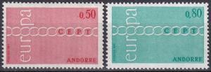 Andorra (Fr) #205-6 MNH CV $20.00