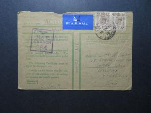 Egypt 1944 Active Service RAF Censor Cover to England / UK Postage - Z11555