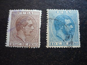 Stamps - Cuba - Scott# 129-130 - Used 2 Stamps