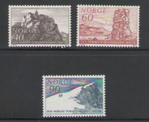 Norway Sc 510-12 1968 Mountaineering stamps mint NH