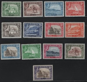 ADEN  16-27a MINT HINGED, KING GEORGE SET