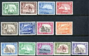 ADEN-1939-48 A lightly mounted mint set ½d to 10/- Sg 16-27
