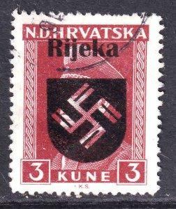 CROATIA 67 WW2 RIJEKA OVERPRINT CDS VF SOUND