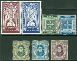 EDW1949SELL : IRELAND 1929-45 Scott #80-82, 85-6, 122-23 Very Fine, MOGH Cat $43