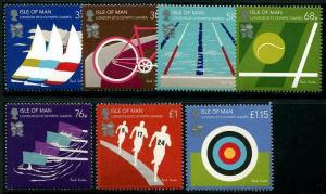 HERRICKSTAMP ISLE OF MAN Sc.# 1471-77 London 2012 Olympics Stamps