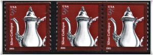 SC#3759 3¢ Silver Coffeepot Single & Coil Pair (2005) MNH