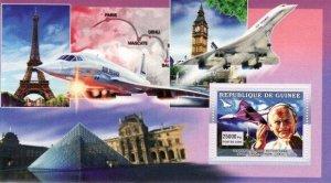 Guinea MNH S/S Concorde Planes 2006