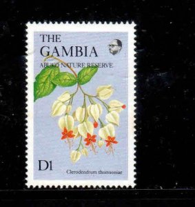 GAMBIA #687A  1987  1d   WILDFLOWERS  MINT VF NH  O.G