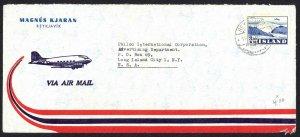 Iceland Sc# C29 on cover Air Mail 1953 7.19 Oraefajokull