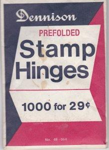 Dennison Prefolded Hinges, Unopened Pack of 1000