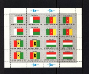 United Nations Flags...4 sheets  64 flags  mnh