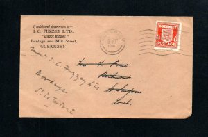 GUERNSEY WARTIME 1d USED ON COVER