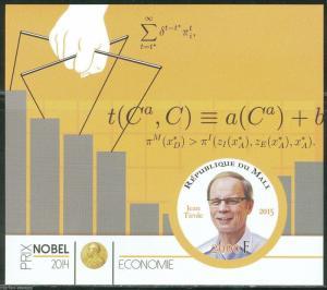 MALI 2015 NOBEL ECONOMICS   PRIZE WINNER JEAN TIROLE  IMPERFORATE MINT NH