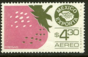 MEXICO EXPORTA C496, $4.30P. STRAWBERRIES PAPER 1 MINT, NH. VF.