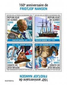 GUINEA - 2021 - Fridtjof Nansen - Perf 4v Sheet -Mint Never Hinged