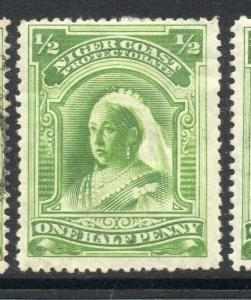 Niger Coast 1894-97 Early Issue Fine Mint Hinged 1/2d. 303796
