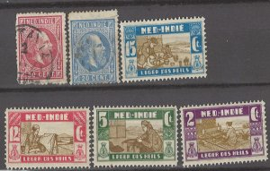 COLLECTION LOT # 3003 NETHERLANDS INDIES 6 STAMPS 1870+ CV+$13