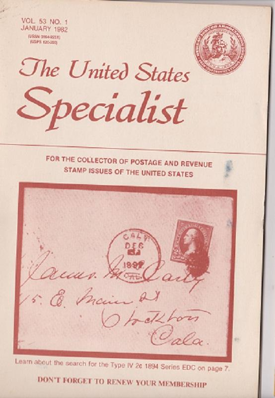 The United States Specialist:  Volume 53, No. 1 - January 1982