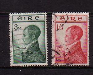 Ireland Sc 149-50 1953 Emmet Execution stamp set used