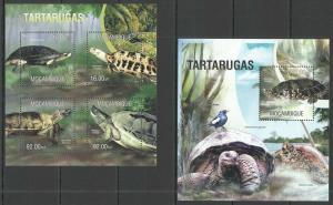 Mozambique 2013 turtles reptiles kbl+s/s MNH