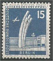 BERLIN, 1956, used 15pf Airlift memorial Scott 9N127