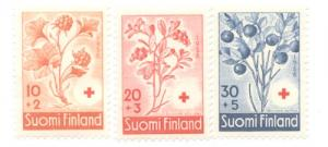 Finland Sc B151-3 1958 Berries Red Cross stamps mint NH