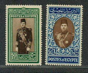 Egypt Sc#239-240 M/NH/VF, High Values, Cv. $37