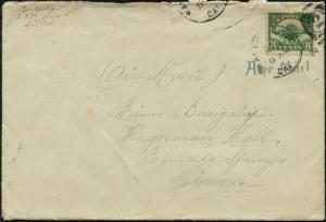 #C4 ON COVER TO COLORADO FROM SAN FRANCISCO 1925 BP9680