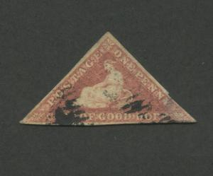 1863 Cape of Good Hope Postage Stamp #12 Used Fine Postal Canceled