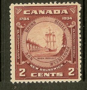 Canada, Scott #210, 2c Seal of New Brunswick, Fine Ctr, MH